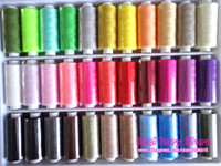 Wholesale Colorful sewing thread colours Mixed sewing thread sewing machine parts teryle polyester thread yards colour