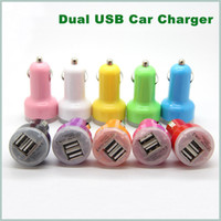 Cheap Dual Port USB Car Charger USB Adapter 2100mah Colorful Car Charger for ipad iPhone 5 5C 5S 4S Samsung
