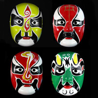 Wholesale Creative Peking Opera Face Mask Color Make ups Pulp Masks Masquerade Decorations Party Mask Children Gift SD227
