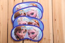 Wholesale 20pcs Frozen Sponge goggles Sleeping Eye Mask Anna Elsa Nap Cover Blindfold Kids Sleeping EyeShade