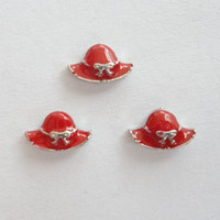 hat lady red - red lady hat charms floating charms for living locket