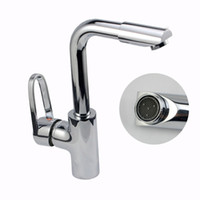 Cheap 360 Rotation Chromeplate Single Handle Bathroom Sink Faucet Water Mixer Taps