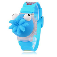 bull - 2014 New Creative Children s Lovely Funny Bull Round and Octopus Dial Band Flashing LED Digital Toy Wrist Watch
