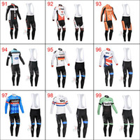 Wholesale Cervelo Sharp Bike Team Clothing Sky Cycling Jerseys Set Belkin Long Sleeve Bicycle Wear Soft Comfortable Riding Skinsuit Cycle Fashion Suit