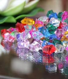 Tableau acrylique clair à vendre-1000pcs / lot glace de 13mm Cristal confettis acrylique clair Perles Tableau Scatter verre d'eau Fish Tank Wedding Party Bar Décoration wi001
