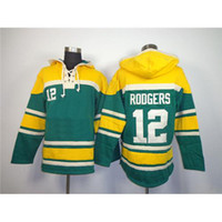 Wholesale Packers Aaron Rodgers Green Pullover Hoodie New Arrival Embroidered American Football Jersey Mens Christmas Outdoor Hooded Sweatshirts