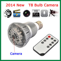 Wholesale Newest H Night Vision Lamp Design Hidden Camera Bulb Mini Digital CCTV Security DVR Camera T8 with Motion detection