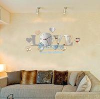 Cheap Home Decoration!Mirror Effect Ring Wall Clock Modern Design,3D Interior Decoration Living Room,Wall Clock #3 SV006061