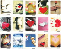 Wholesale HAPPY time better life love message MINI blessing lomo card postcards illustrator postcard wish cards