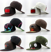Wholesale Cheap GOOGIMS Zombie DOMO KUN SPONGEBOB cap Cute Cartoon Snapback Hats Marvel Spiderman Hero Snapbacks Caps Snap back hat