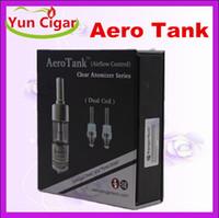 Cheap 2014 Aerotank 2.5ml Atomizer E Cigarette Clearomizer Rebuildable Coil head Pyrex Glass Cartomizer Vaporizer Aero Tank for Kanger protank