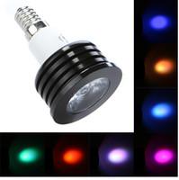 Wholesale High Power E27 E14 B22 GU10 W RGB LED Bulb Music Control led Spotlight Million Color Light with Aluminium Body IR Remote LY