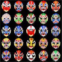 Wholesale Classic Peking Opera Make ups Masks Retro PVC Masquerade Mask Color Painting Man Party Mask SD226