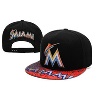 Wholesale Black Marlins Snapbacks New MLB Hats Cheap Baseball Snap Backs Hats Cool Snap Back Cap Sports Hat Team Caps Allow Mix Order