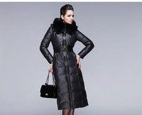 2014 Winter New fur collar Woman very Long Down coat Faishon...