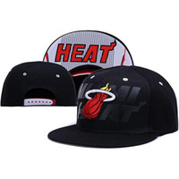 Cheap Heat Snapback Basketball Snapbacks Black Snap Back Hats All Team Snap Backs Cap Party Hip Hop Hat Cap Womens Mens Flat Hat