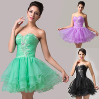 Stunning Beaded Voile Mini Short Cocktail Dresses Ball Gown ...