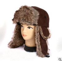 Wholesale New Warm Ear Flaps Bomber Men s Hat Men Faux Fur Cap Winter Women Hats Winter