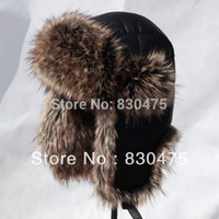 Wholesale High quality thickening PU leather bomber hats thermal ear hat winter skiing hats
