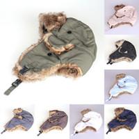 aviator hats men - Men Women Winter Warm Trapper Bomber Aviator Trooper Earflap Snow Ski Hat Cap
