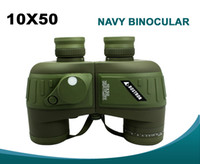 Binoculars Rangefinder - 10X50 Navy Binoculars With Rangefinder and Compass RETICLE illuminant Waterproof Night Vision Telescope