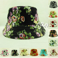 Wholesale Unisex Cotton Bucket Hat Boonie Floral Hunting Fishing Outdoor Summer Sun Cap Sports Fisherman Hats