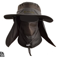 Wholesale Outdoor Summer Men Fishing Hat Climbing UV Protection Bucket Hat With Neck Face Cover Cycling Breathable Visors Sun Cap Freeship