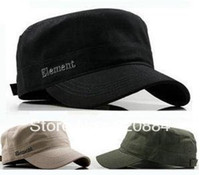 Wholesale In Stock Element letter flat military hat male men and women s casual cap baseball cap