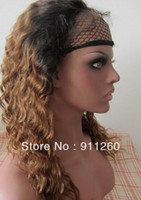 "Cheap Free Shipping! 16"",Two Tone 1B 30,Deep Wavel,Indian Human Hair,Glueless Full Lace Wig"