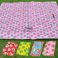 Cheap OP-Waterproof 180x160cm Kid's Game Blanket Baby Crawling Pad Outdoor Beach Camping Mat Picnic Mat Red&Pink&Blue&Yellow 17167