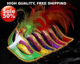 Feather Masks wedding party masks masquerade mask Venetian mask women Lady Sexy masks Carnival Mardi Gras Costume mix color Free Shipping
