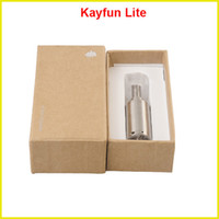 Wholesale Kayfun Lite plus E Cigarette stainless steel Rebuildable Atomizer Thread clearomizer with Airflow Control Bottom Feeder