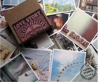 Cheap Freeshipping! 70Pcs set Vintage romania love story gift card Love card greeting Birthday wedding kraft paper box
