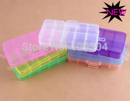 Wholesale Multi Color Slot Jewelry Rectangle Display Storage beads Organizer Case Box compartment container ZBX21