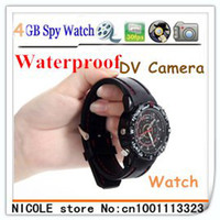 Cheap Hot sell Real Drop shipping Free Shipping built-in 8GB Waterproof Watch Hidden Digital Video Camera Mini Camcorder DVR