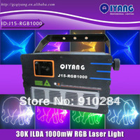 Blue laser show equipment - 2014 new hot sell cheap price professional dj ktv stage W rgb ilda full color cartoon laser light projector show equipment