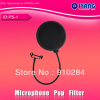 filter pop - PS inch Double Layer Studio Microphone Mic Wind Screen Pop Filter Mask Shield