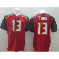 Football Men Short Buccaneers Football Jerseys #13 Evans 2014 New Arrival Mens Cheap Football Wears Brand Teams High Quality Football Sportswears