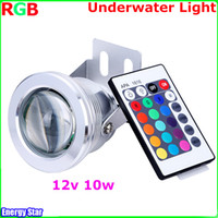 ir led light - Best Waterproof Led Underwater Light Color Changing RGB LED Pool Pond Fountain Lamp W V RGB Floodlight With Key IR Control