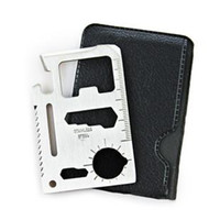 Wholesale free shinppingStainless steel multi function lifesaving card tool card Saber card comes with a portable card sets Auto Acces