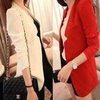 Wholesale 2014 Women s autumn long Korean blazer branco vestido plus size feminina fashion womens coats and jackets winter