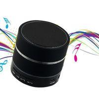 Wholesale NEW S09 LED Light Ring Enhanced speaker Super Bass Metal Mini Portable BeatBox Hi Fi Bluetooth Handfree Mic Stereo Speakers
