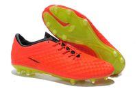 Wholesale Hypervenom Phantom FG Soccer Shoes CrimsonVoltHyper Punch Soccer Shoes Ronaldo Soccer Shoes New Football Sneakers Sports Shoes