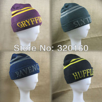 Wholesale New Harry Potter Peripherals Hat Warm fashion Knit Hat Cap Cosplay props gift kinds