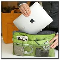 Wholesale New bag make up organisers Storage inner bag for ipad cosmetic phone bag travelling bag handbag Clutches pouch E