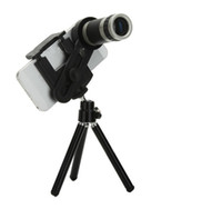 Wholesale Free DHL x Optical Zoom Camera Lens Digital Camera Telescope zoom Lens Phone Case Tripod For iPhone s s All Mobile Phone