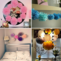 Wholesale quot Tissue Paper Pom Flowers Balls Wedding Birthday Party Decor