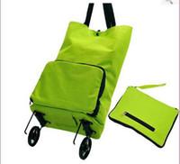 Cheap OP-Hot Sale Free shipping portable shopping cart,foldable shopping trolley tote bag with wheel Rolling folding shopping bag