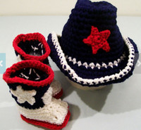 baby western boots - 6 off Western hat and boots baby cowboy suit red white and blue cs shoes cowboy hat set casual shoes HOT SALE Cotton