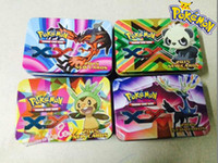 Wholesale No Duplicates Boxs Set Box New Arrival Pokemon XY Cards Iron Box Gifts Poke Cards Trading Card Game Children Cards Toys